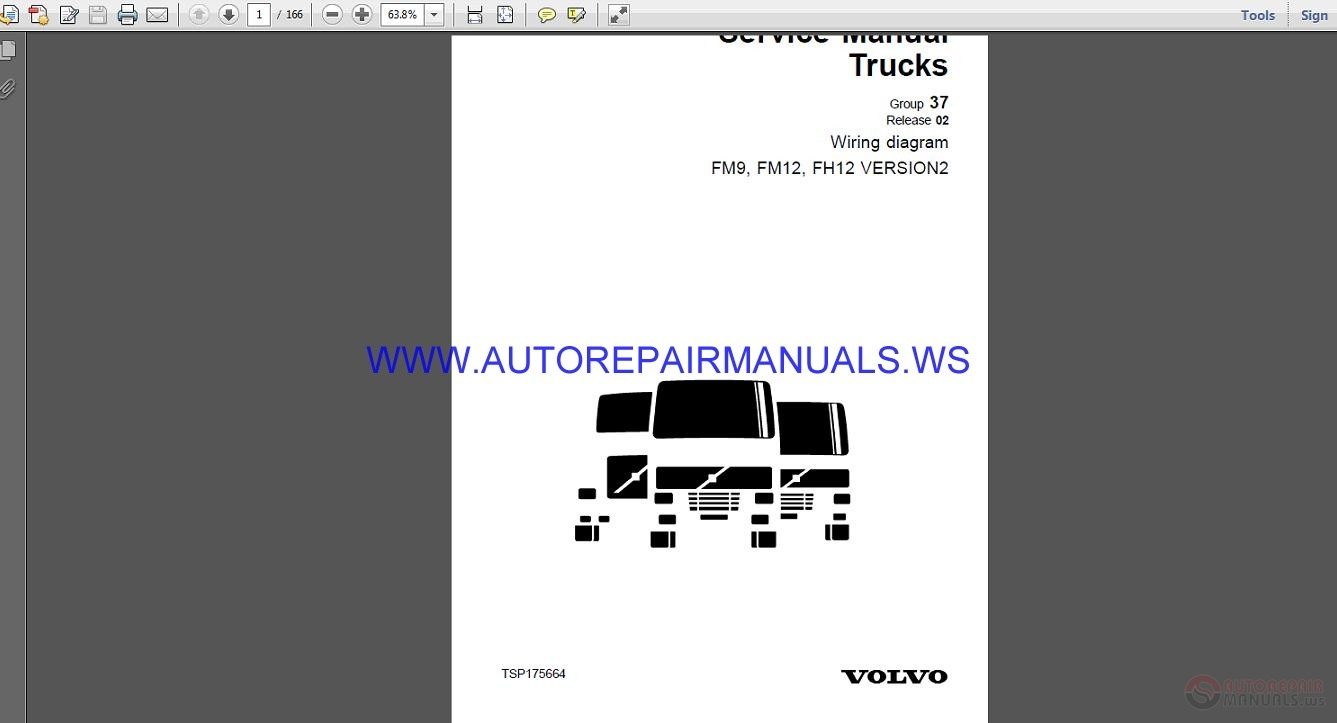 Volvo Trucks Fm9 Fm12 Fh12 Version2 Wiring Diagram Service