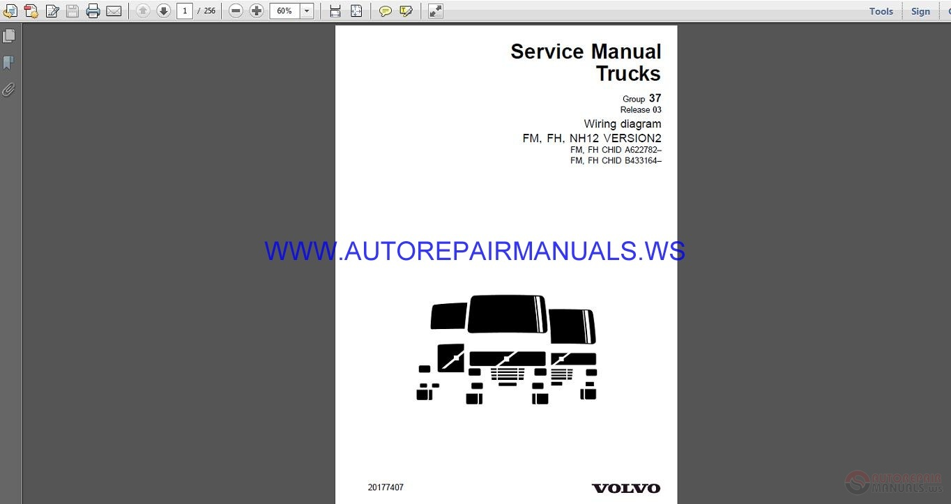 Volvo Trucks Fm Fh Nh12 Version2 Wiring Diagram Service