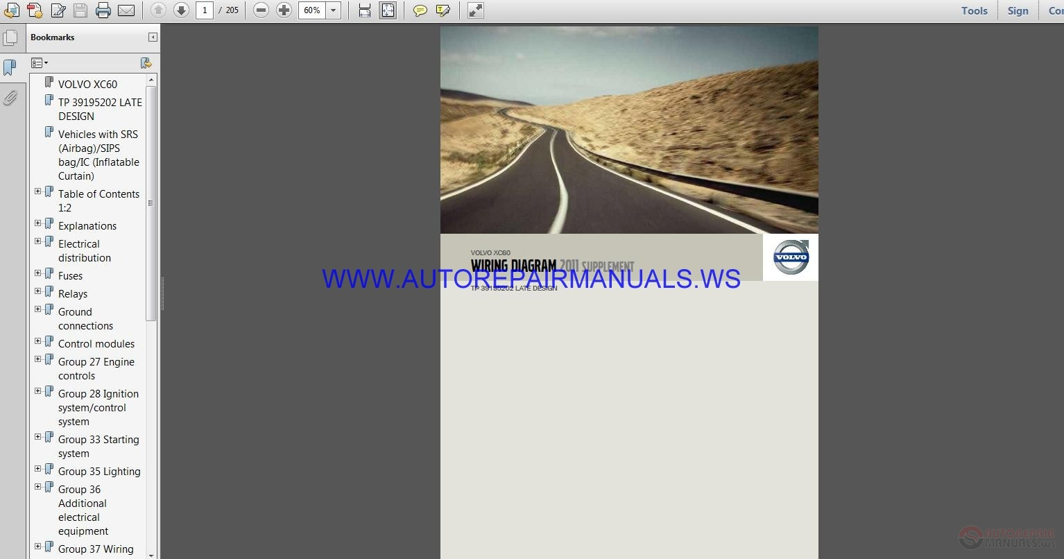 Volvo Xc60 Tp39195202 Late Design Wiring Diagram Manual