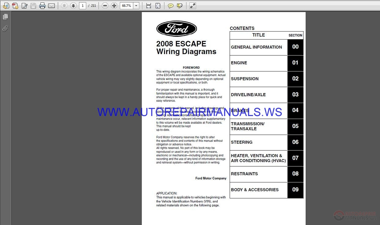 Ford 3230 Wiring Diagram