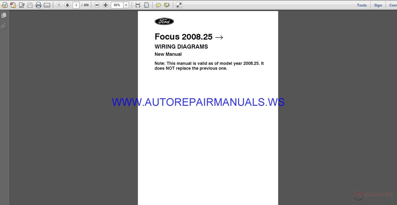 Ford Focus C307fap 2008 25 Wiring Diagram New Manual