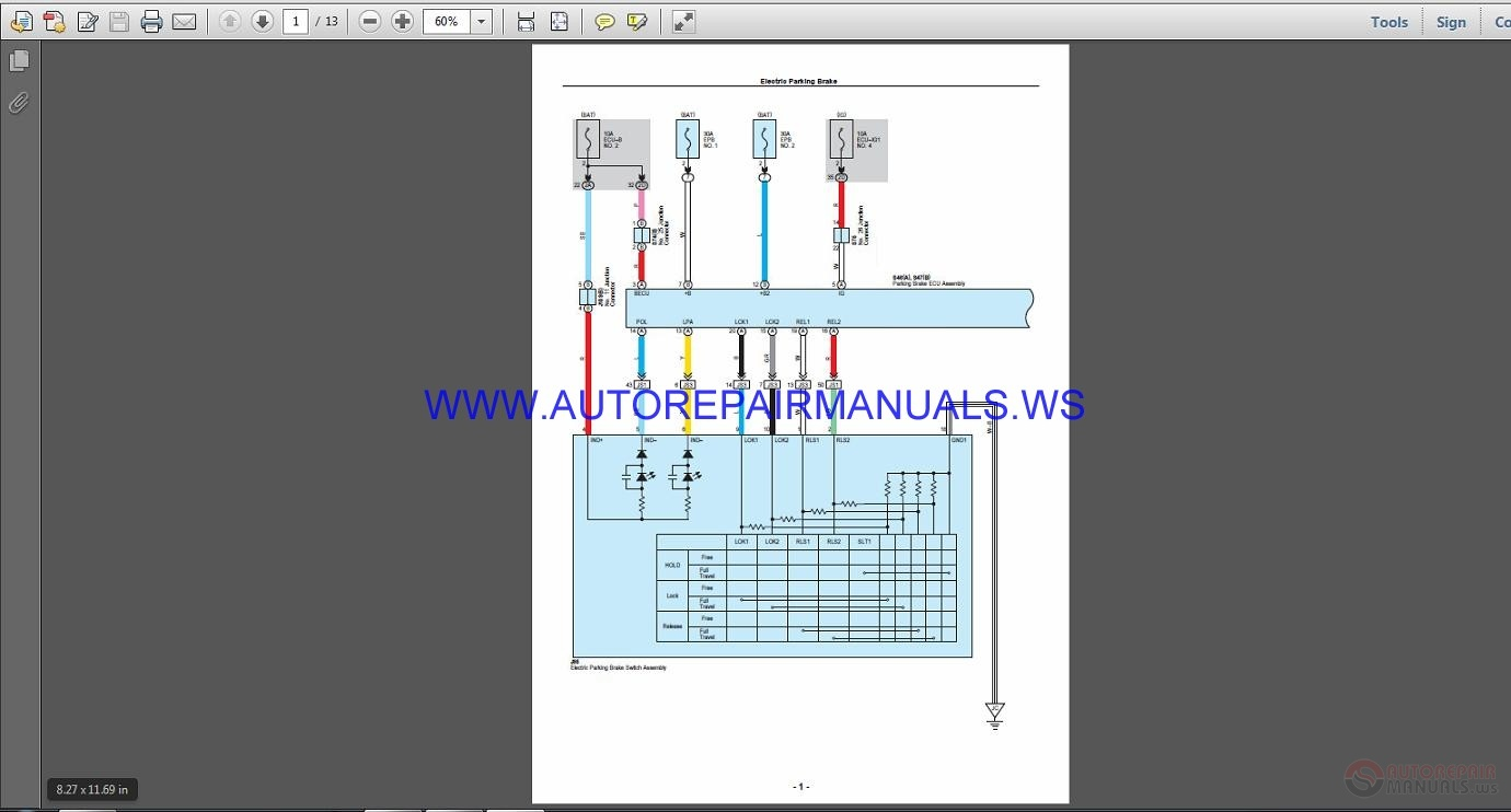 Lexus Rx450h 2015-10- 2016  Usa Wiring Diagram Manual