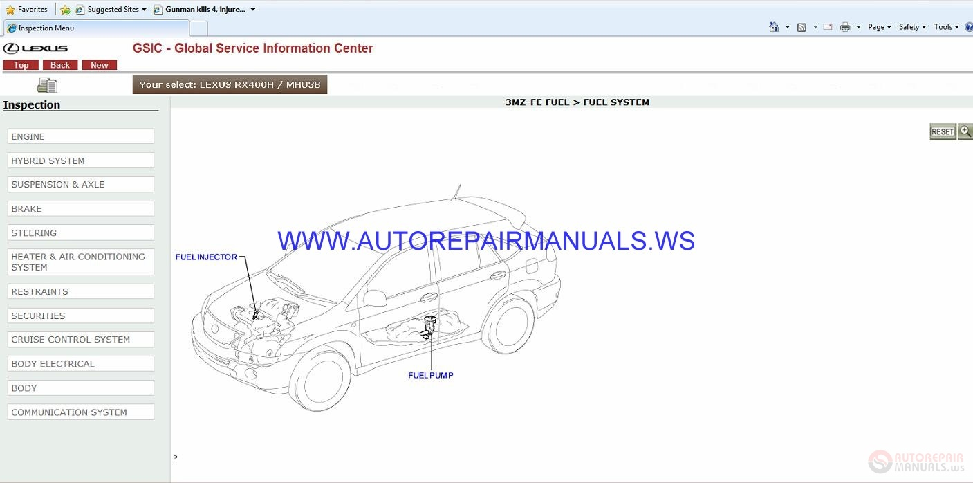 Lexus Rx400h  Mhu38  2007  Gsic Global Service Information Center Manual