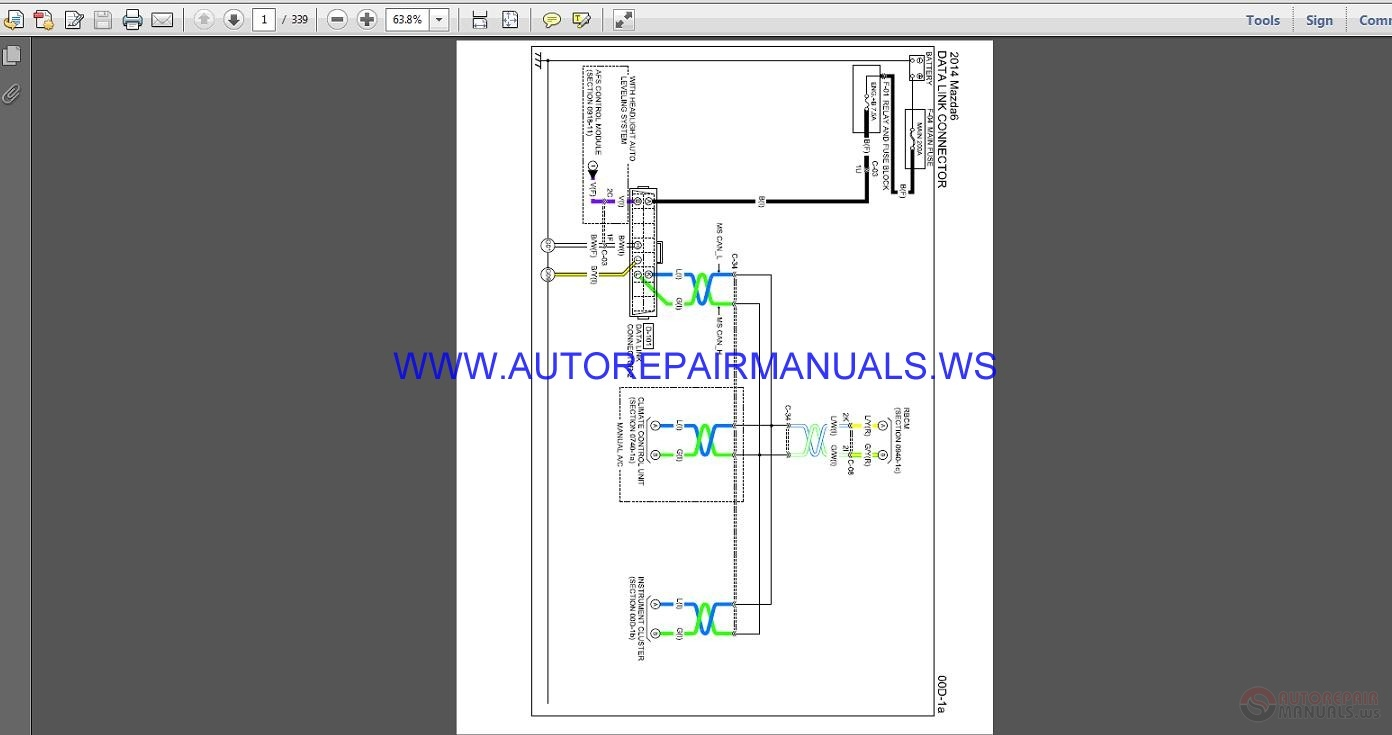 MAZDA 6 2014 Wiring    Diagram       Manual      Auto Repair    Manual
