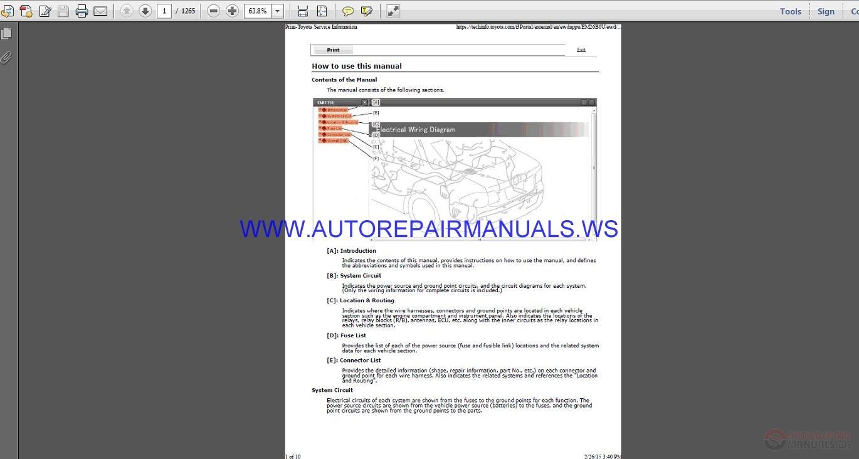 Toyota    Tundra 2015 Wiring    Diagram    Manual   Auto Repair