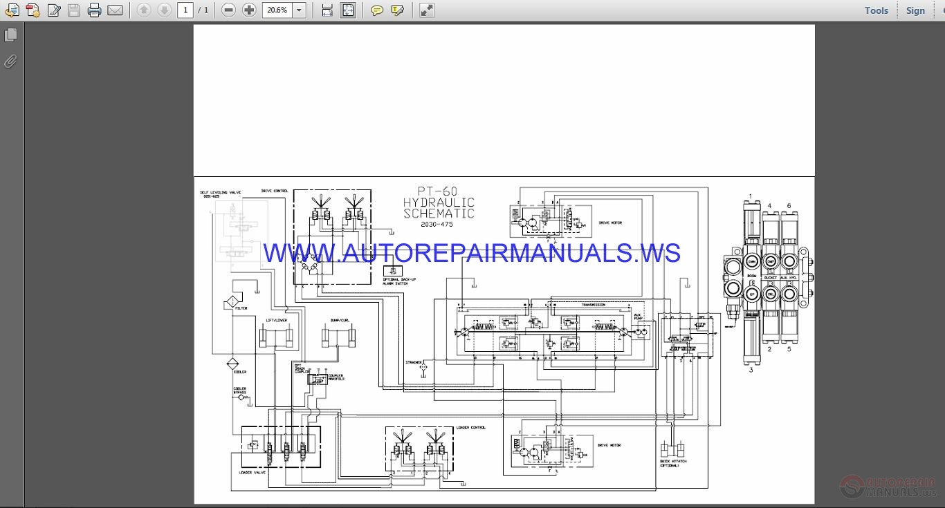Terex Asv Pt 60 Hydraulic Schematic Wiring Diagram Manual