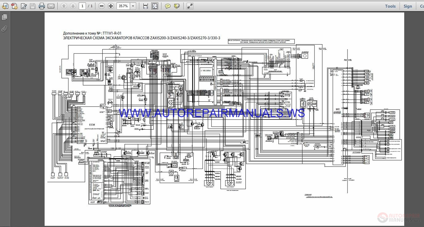 Hitachi Zaxis 2002402703303 Circuit    Wiring       Diagram    Manual   Auto Repair Manual Forum  Heavy