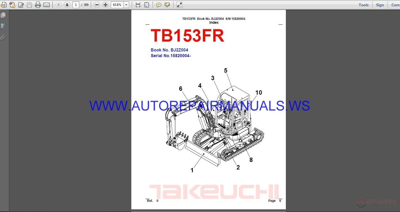 takeuchi tb153fr parts manual bj2z004 auto repair manual. Black Bedroom Furniture Sets. Home Design Ideas