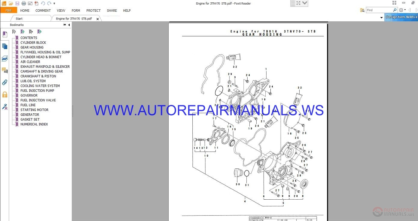 Takeuchi TB016 Parts Manual BD4Z103 | Auto Repair Manual Forum