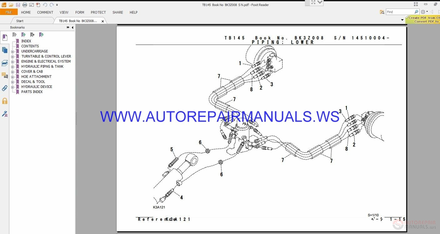 takeuchi tb145 parts manual bk3z008 | auto repair manual forum     on  takeuchi tb250