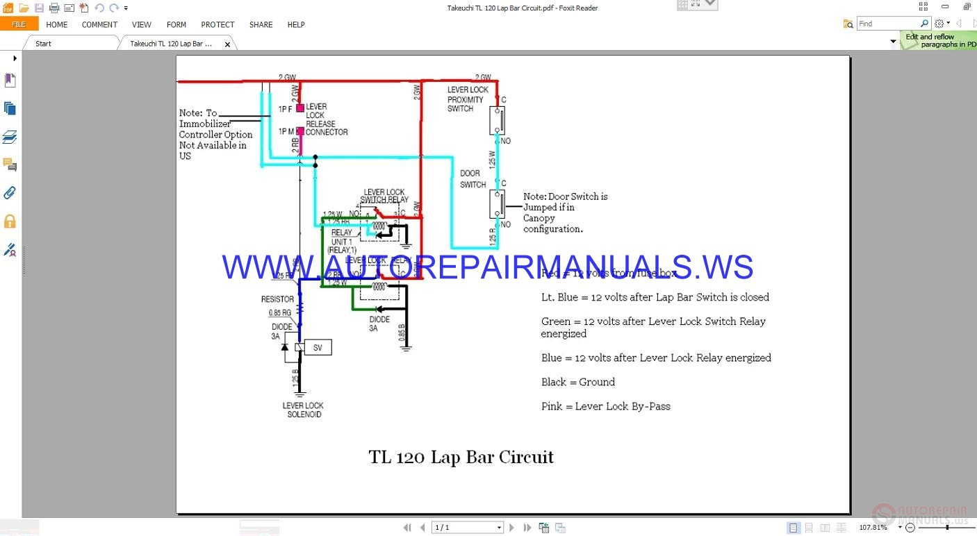 Wiring Schematic For Taheuchi Ts60v Skidd Loader Diagrams Takeuchi Tl 120 Lap Bar Circuit Diagram Manual Auto Repair More The Random Threads Same