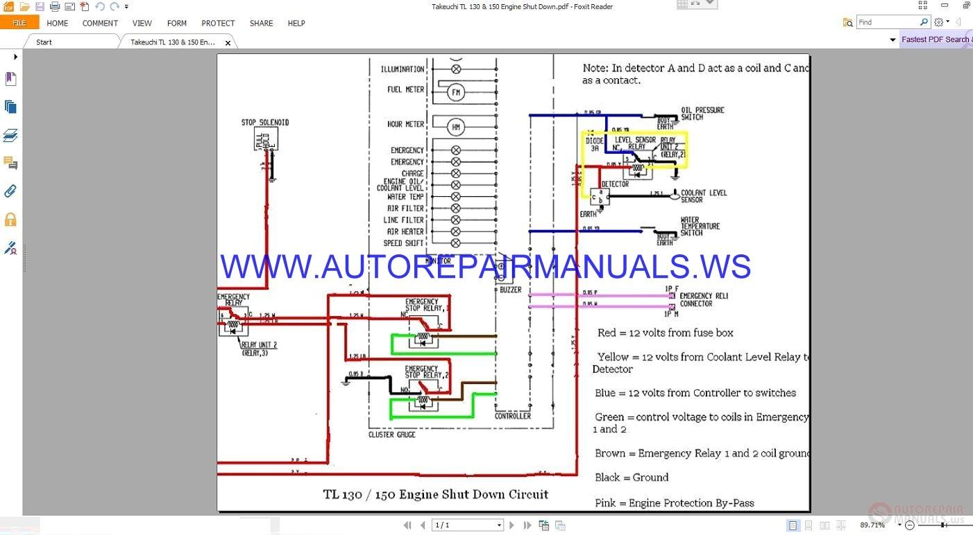 Takeuchi tl 130 150 engine shut down wiring diagram manual auto more the random threads same category cheapraybanclubmaster Choice Image