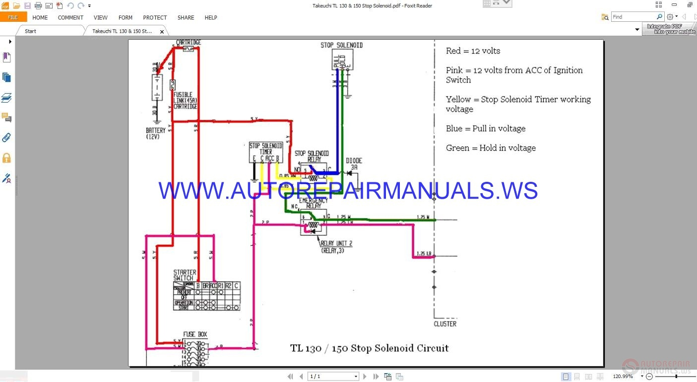 takeuchi wiring diagram wiring diagramstakeuchi wiring diagram wiring diagram experts takeuchi wiring diagram takeuchi tl 130 \u0026 150 stop solenoid