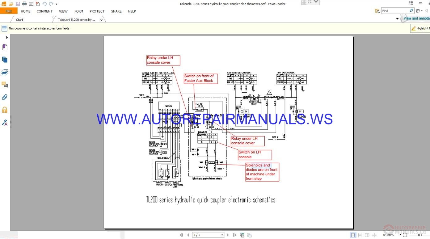 Hydraulic Coupler Schematic Electrical Wiring Diagrams Takeuchi Tl 200 Series Quick Electronic Schematics Hansen Couplings