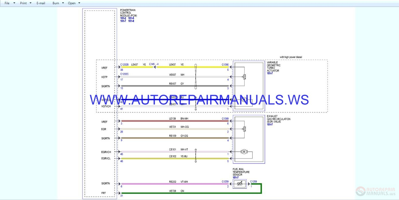 Ford Ranger Wiring Diagrams Manual