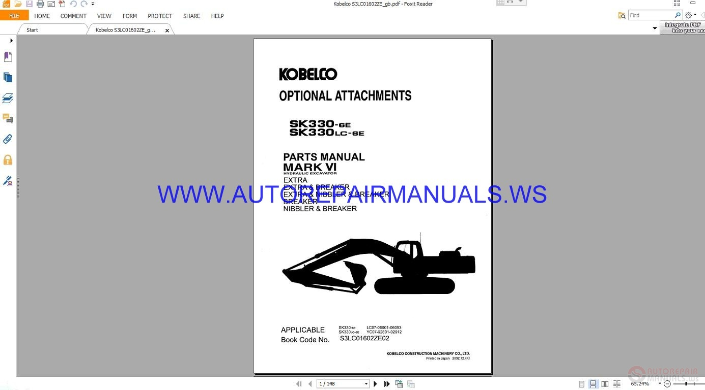 auto repair manuals kobelco sk330 330lc 6e hydraulic Peterbilt 335 peterbilt 330 owners manual
