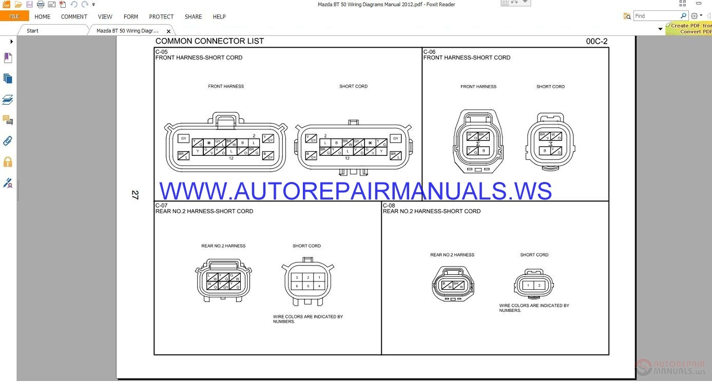 Mazda Bt Wiring Diagrams Manual