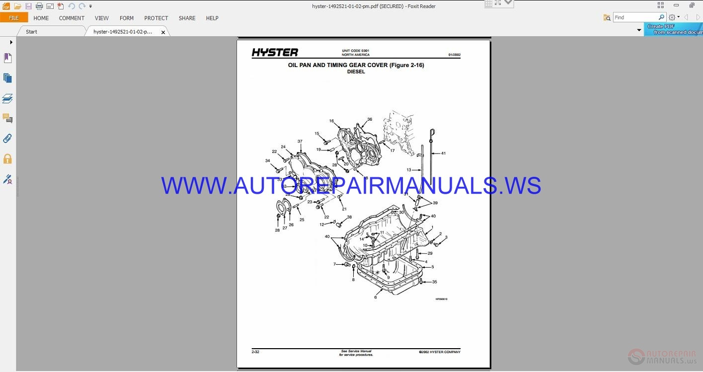 Hyster Parts And Service Full Set Manual Dvd