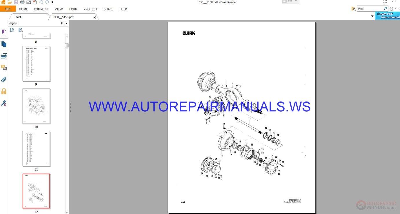 clark forklift parts manual download