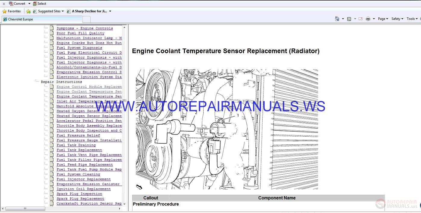 Chevrolet Cruze J300 Engine 2 0 Dsl Service Manual