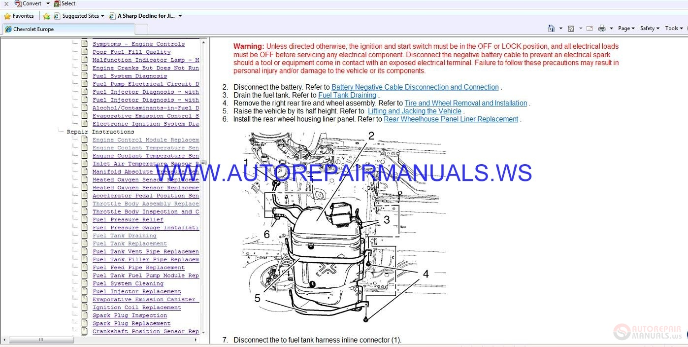 Chevrolet Cruze J300 Engine 2.0 DSL Service Manual | Auto ...