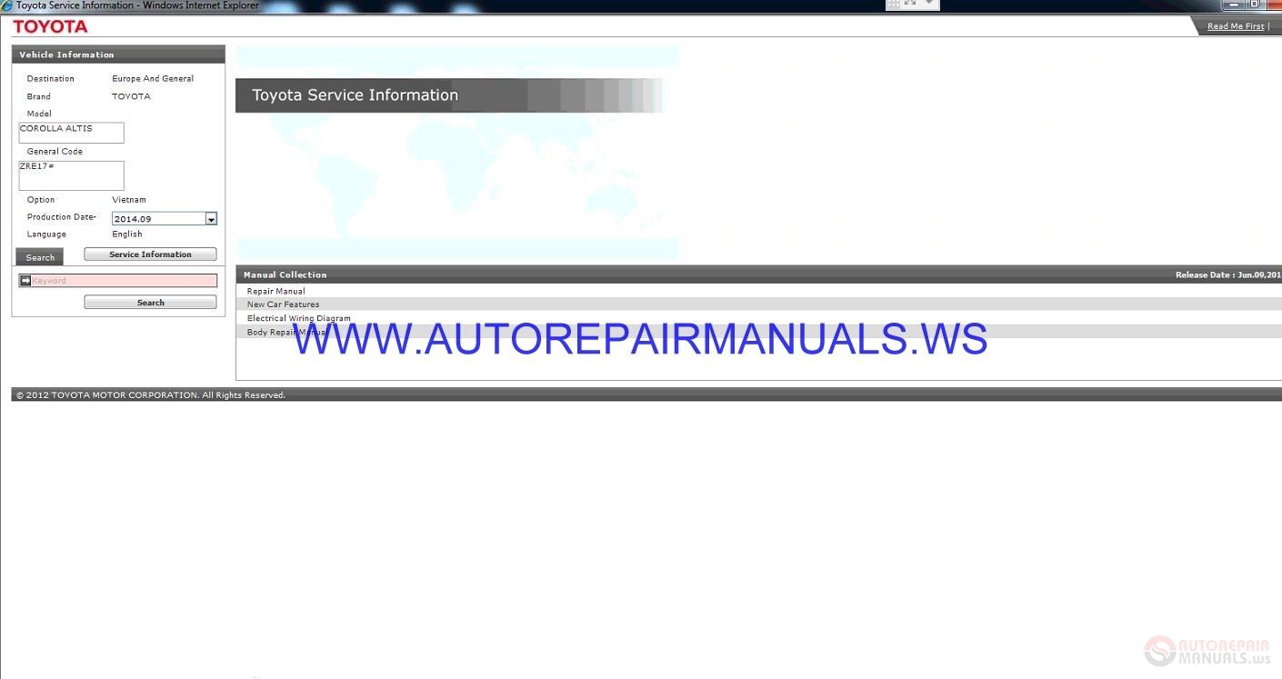 Toyota Zre17 Corolla Altis Service Information Manual 2014 09 Auto Repair Manual Forum Heavy Equipment Forums Download Repair Workshop Manual