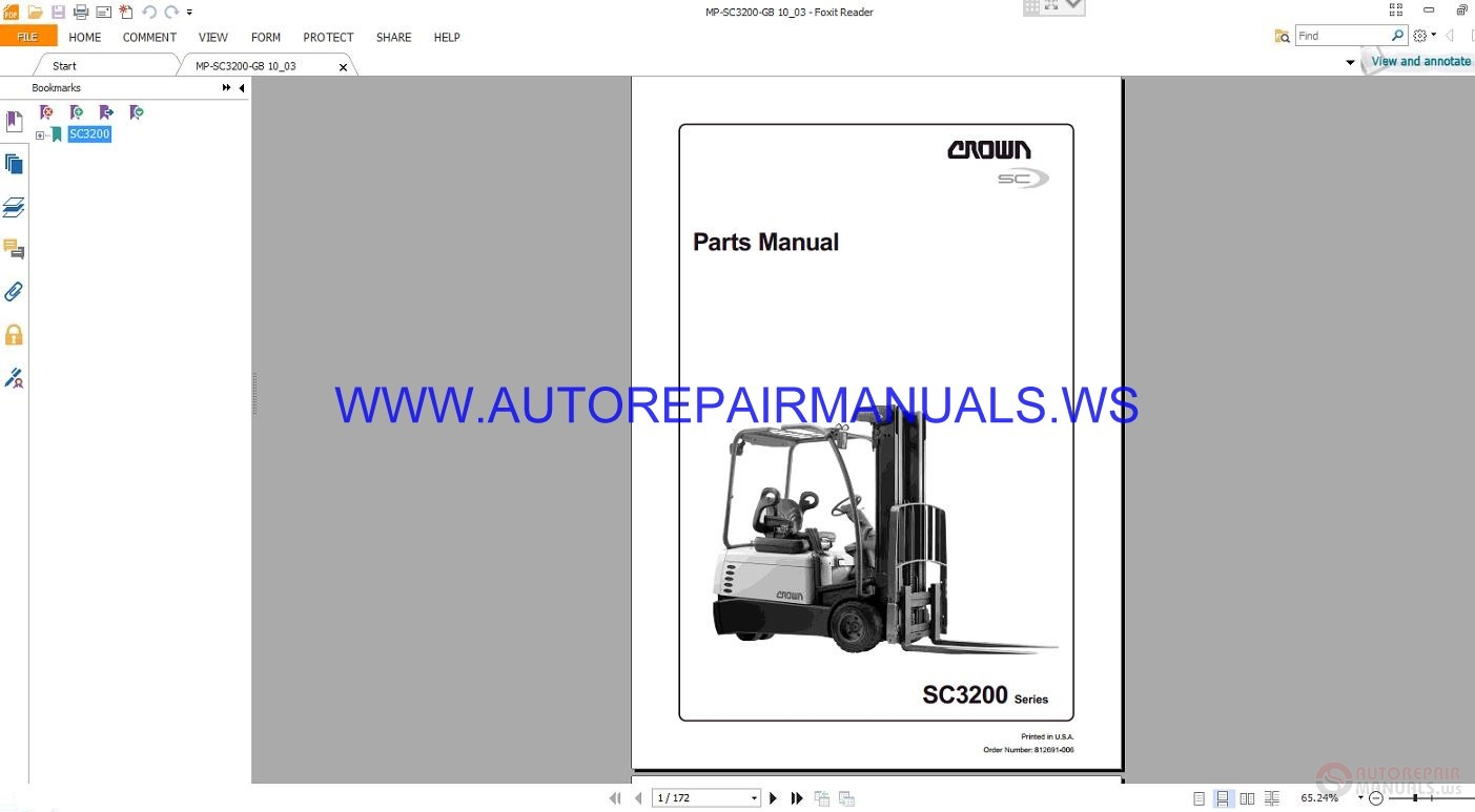 More the random threads same category: Crown Series LP3010 3020 812521-006  Maintenance Manual · Crown Forklift ...