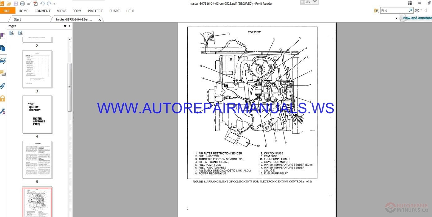 60 Service Manual Ecm Schematics York Wiring B1hp Array Hyster H45 50 55 65xm D177 Auto Repair Rh Autorepairmanuals