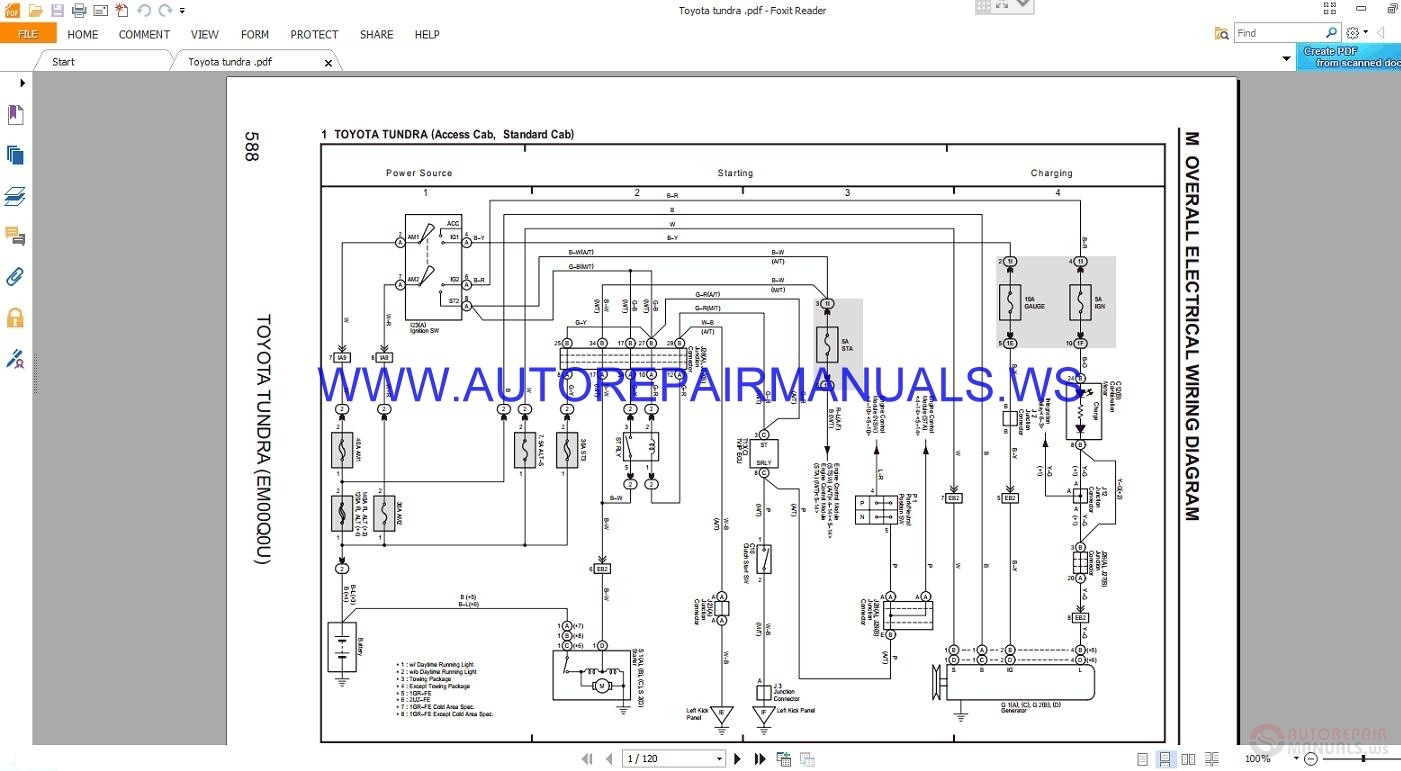 Toyota Tundra Em00q0u Overall Electrical Wiring Diagrams