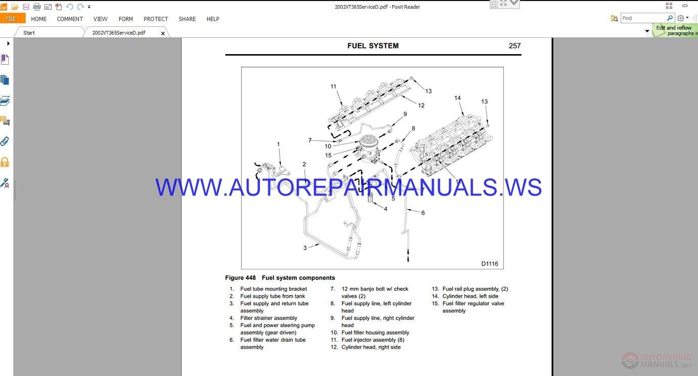 International 365 444 466 530 Service Manuals