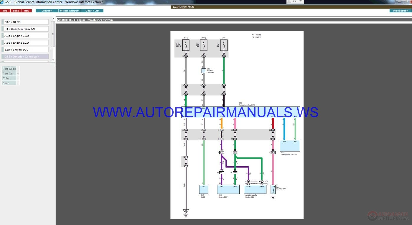 Toyota Aygo Kgb10 2005 Workshop Manual