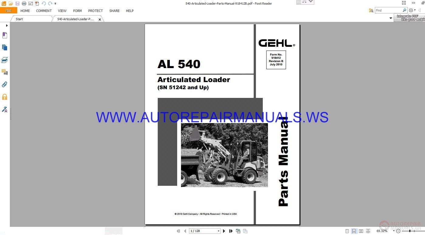 Gehl 4610 service manual free download