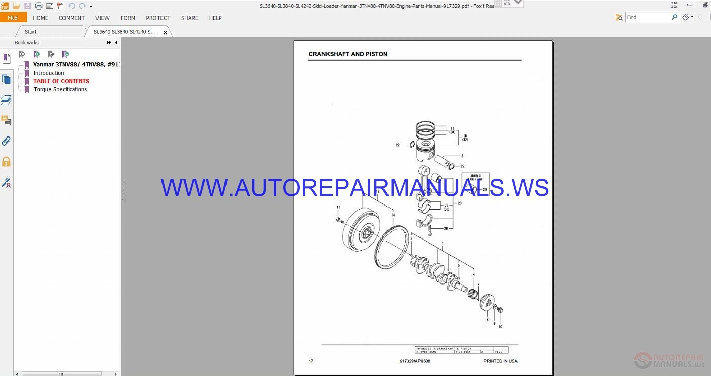 Gehl Engines Parts Manual
