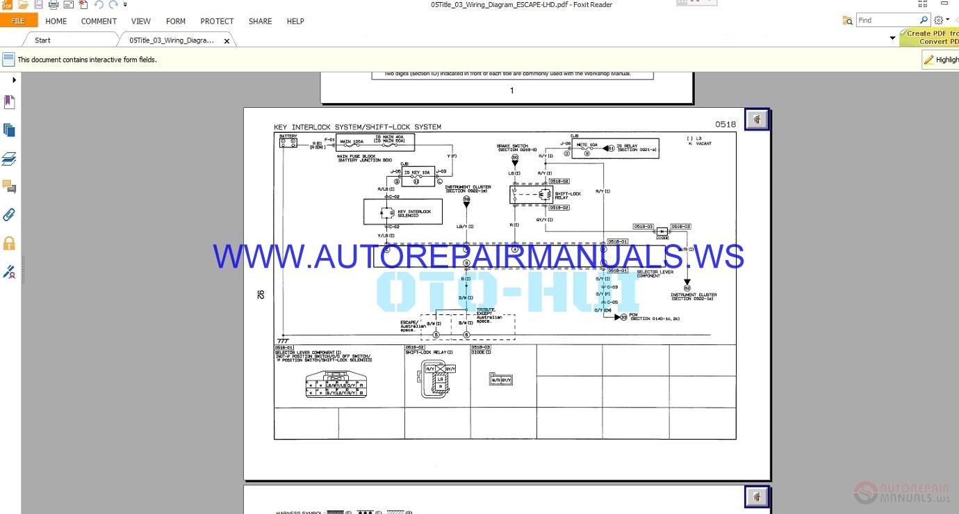Ford Escape Wiring Diagram Manual 2008