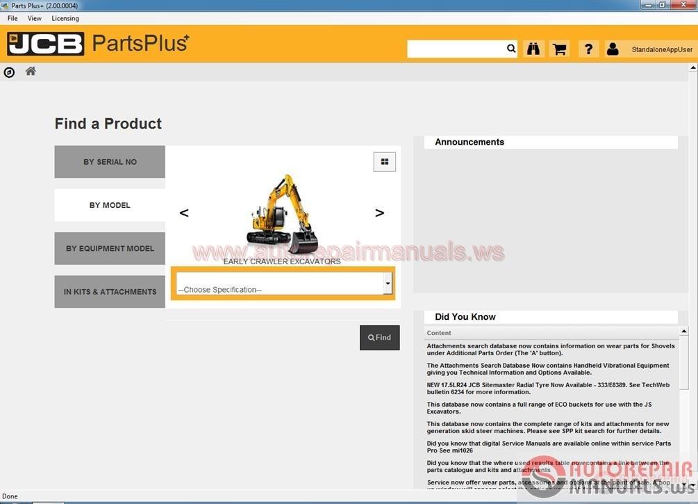 auto repair manuals arm00097 jcb service parts pro spp. Black Bedroom Furniture Sets. Home Design Ideas