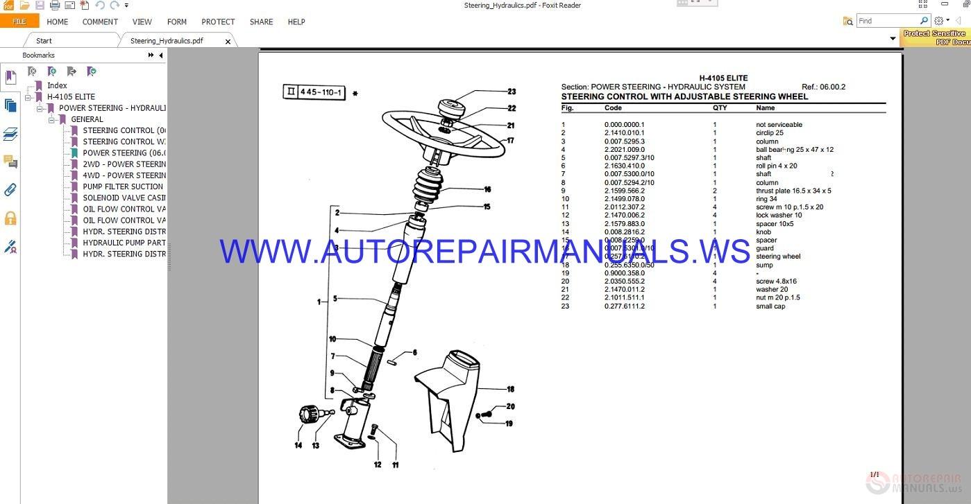 Hurlimann H-4105 Elite Parts Manual | Auto Repair Manual Forum