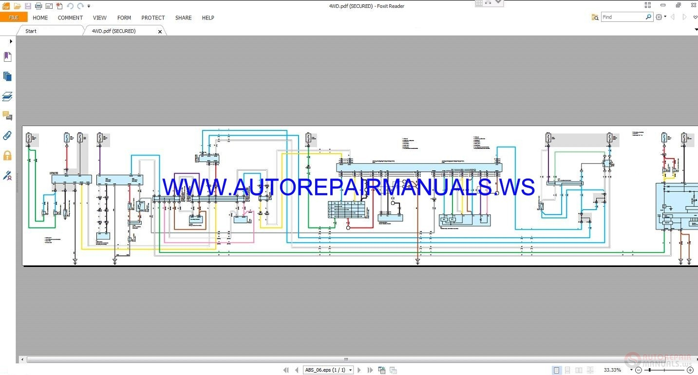 Toyota    RAV4 Electrical    Wiring    Diagrams Manual 2013   Auto