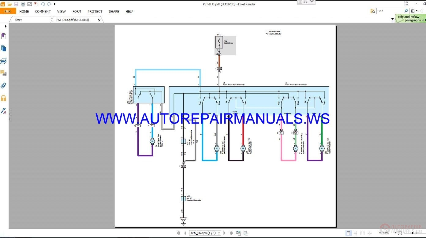 Toyota rav electrical wiring diagrams manual auto