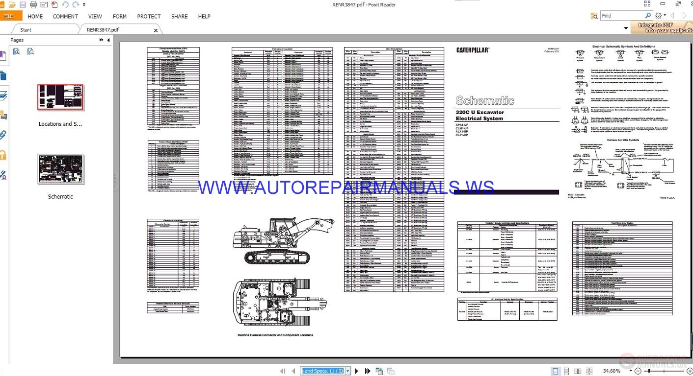 Caterpillar 320c U Excavator Electrical Schematics Manuals