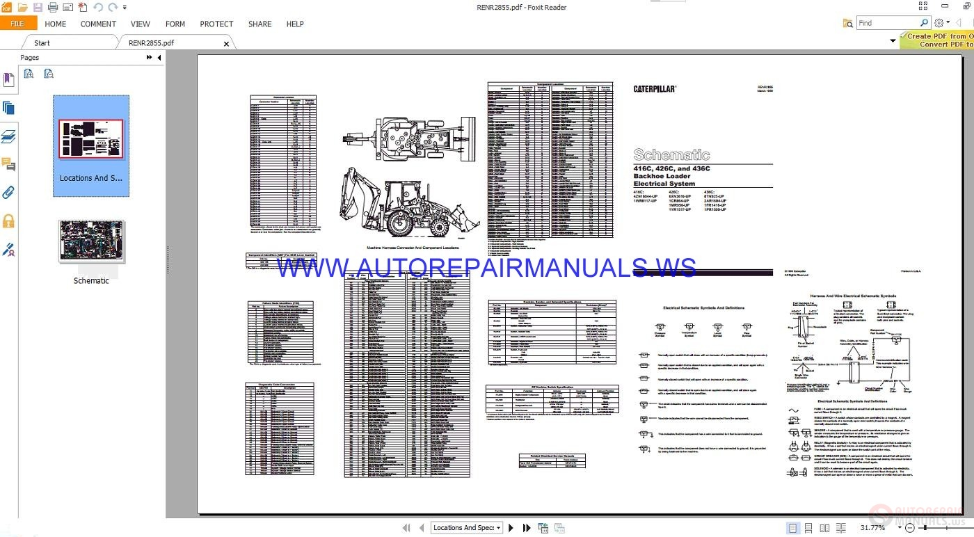 caterpillar 416c 436c backhoe loader electrical schematics. Black Bedroom Furniture Sets. Home Design Ideas