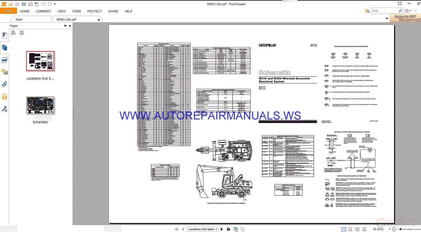 Beautiful Caterpillar Excavator 320b Hydraulic Schematic Manual Pdf ...