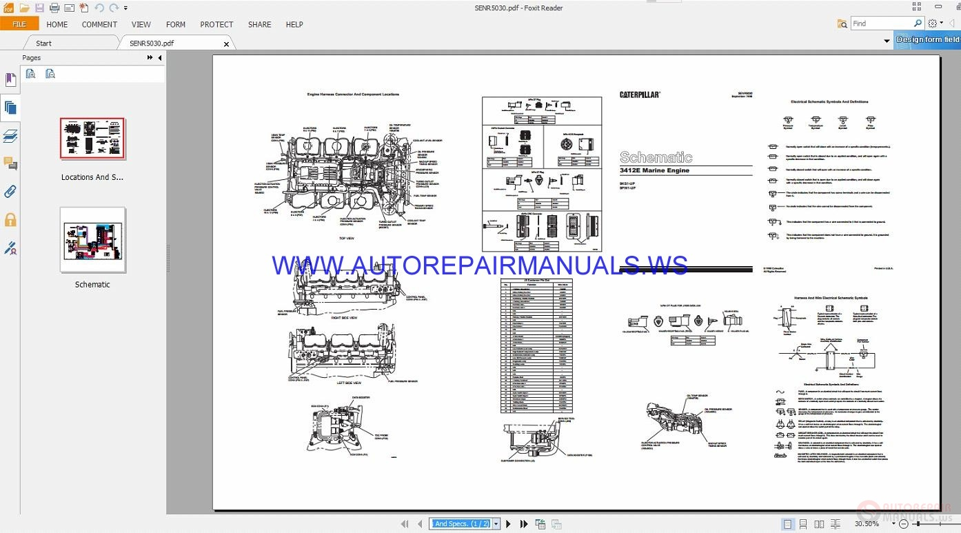 caterpillar 3412e marine engine electrical schematics