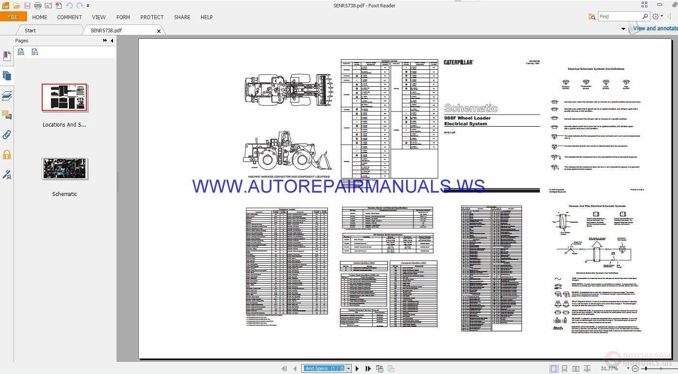 Cat 988f Loader Wiring Diagrams Wiring Diagram Schemes