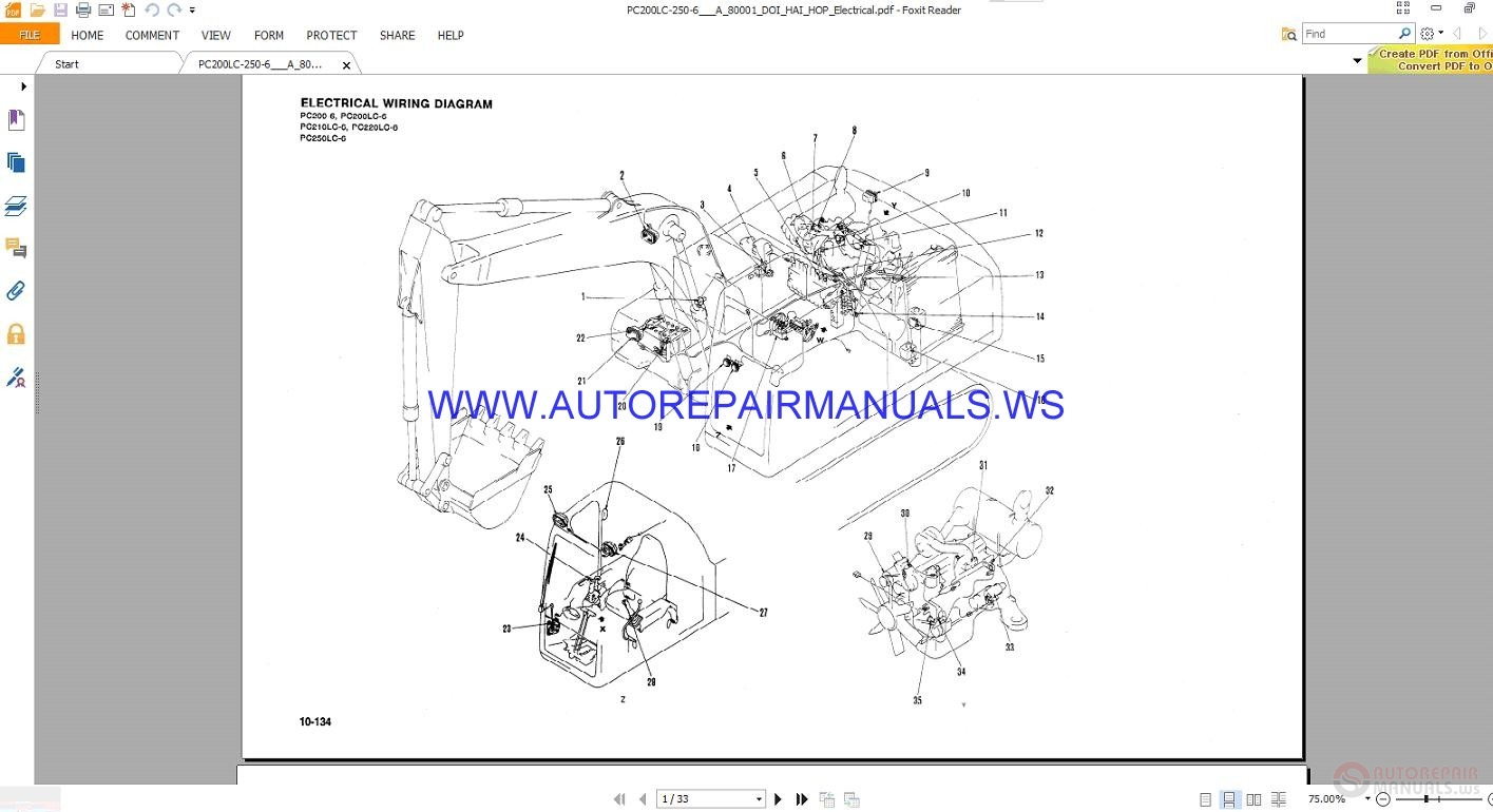 Prime Komatsu Pc200 6 Pc250Lc 6 Electrical Wiring Diagram Manual Auto Wiring Digital Resources Cettecompassionincorg