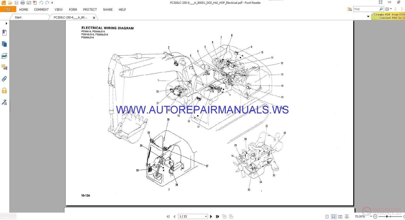 Awe Inspiring Komatsu Pc200 6 Pc250Lc 6 Electrical Wiring Diagram Manual Auto Wiring Cloud Hisonuggs Outletorg