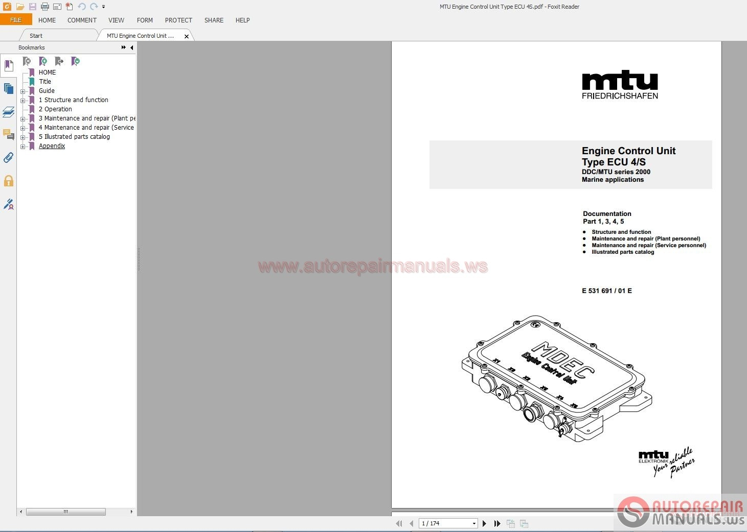 mtu engine control unit type ecu 4  s