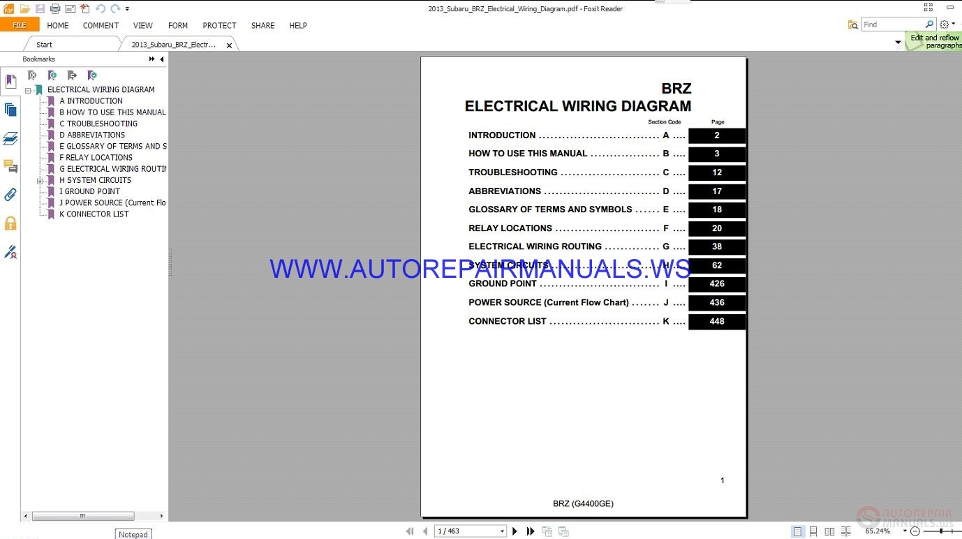 subaru brz electrical wiring diagram manual 2013 auto. Black Bedroom Furniture Sets. Home Design Ideas