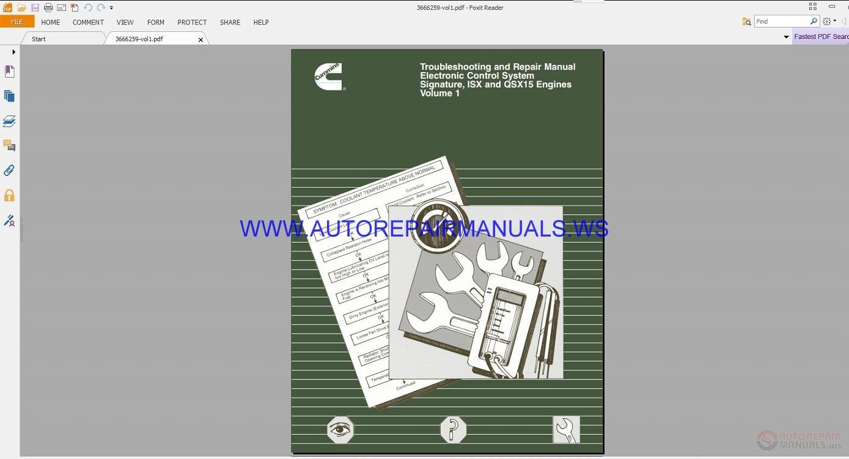 Cummins Isx Service Manuals