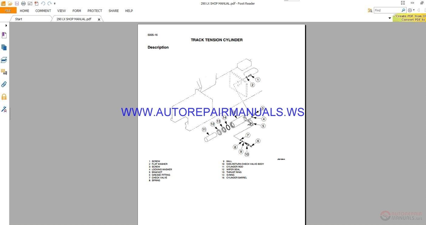 Link Belt 290 Series Excavators Circuit Schematic Diagrams Shop Manual