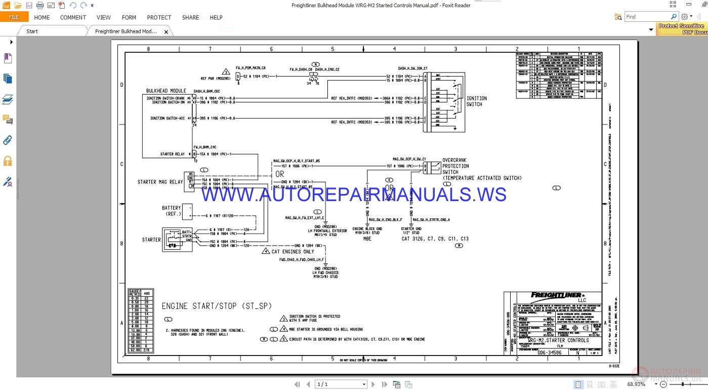 Freightliner Bulk Head Module Wiring Diagrams    Wiring Diagram